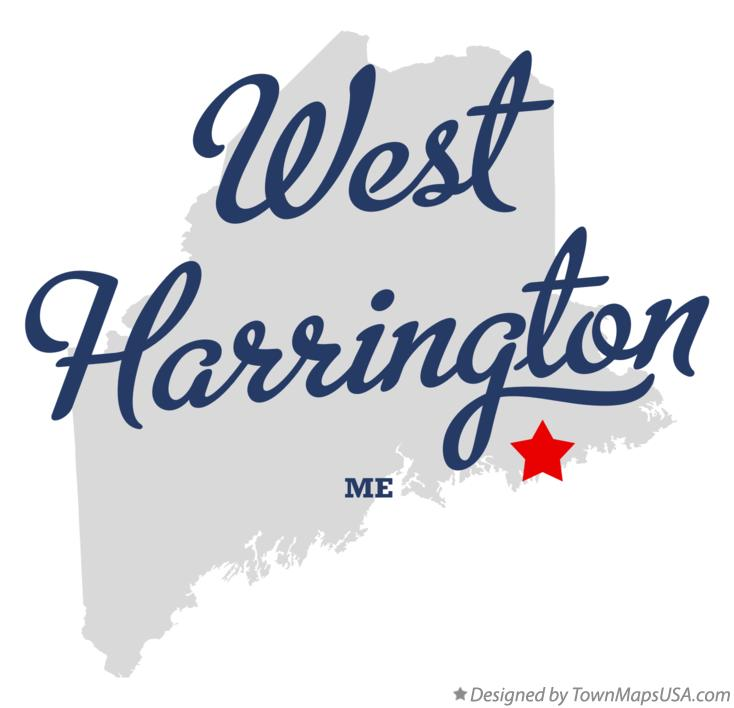 Map of West Harrington Maine ME