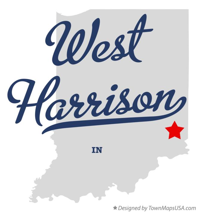 Map of West Harrison Indiana IN