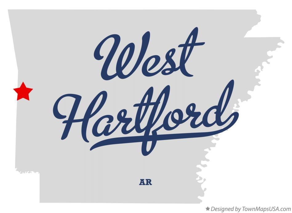 Map of West Hartford Arkansas AR