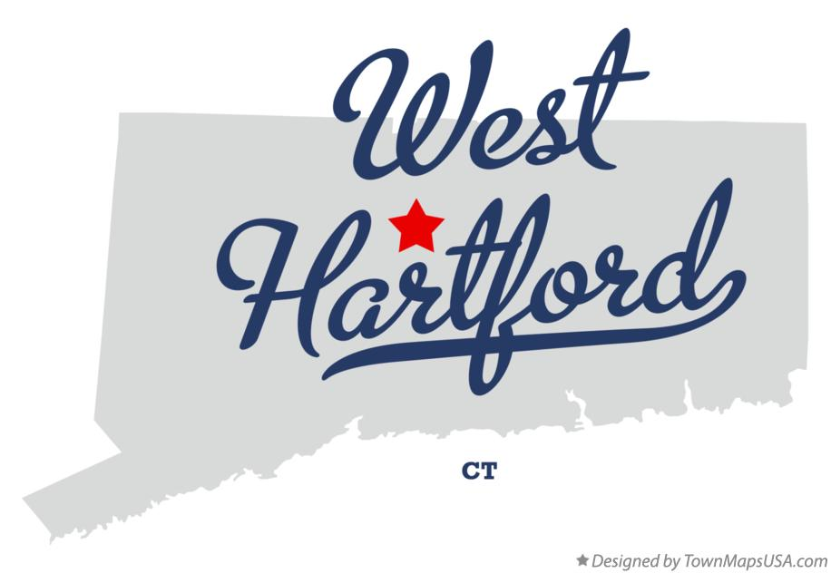 Map of West Hartford, CT, Connecticut