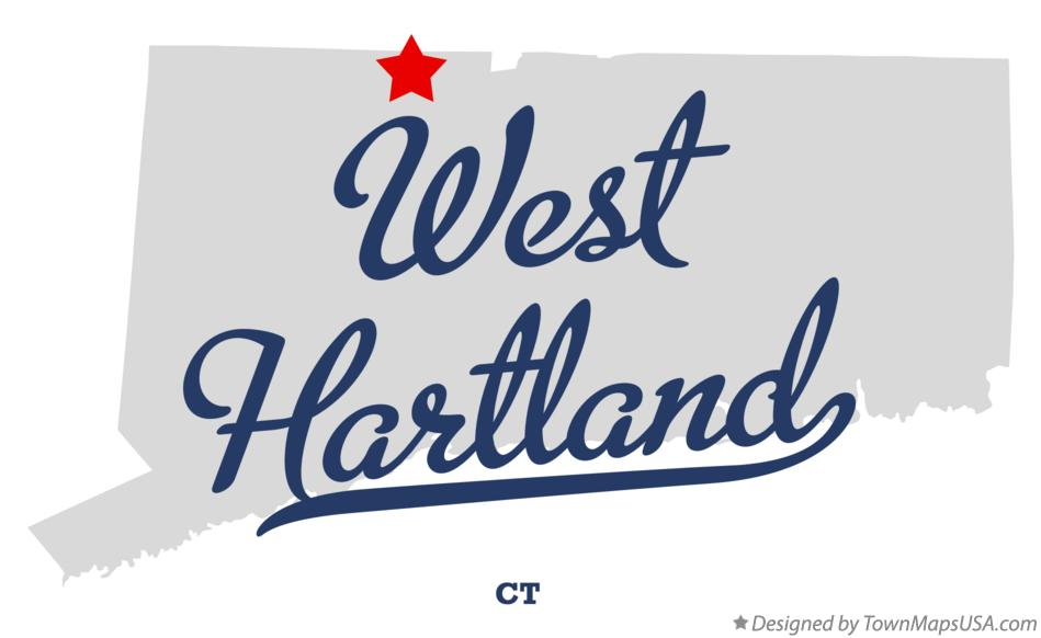 Map of West Hartland Connecticut CT
