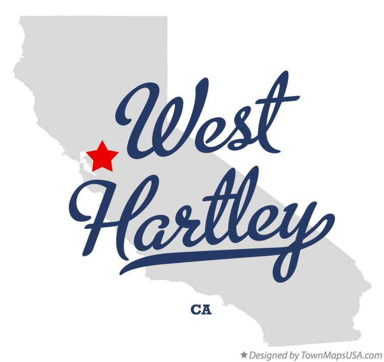 Map of West Hartley California CA