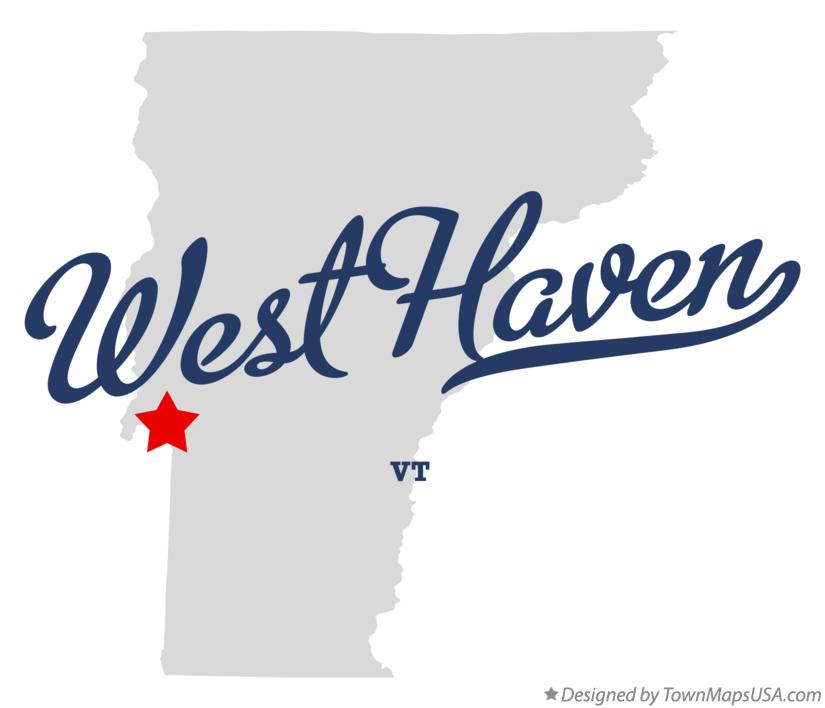 Map of West Haven Vermont VT