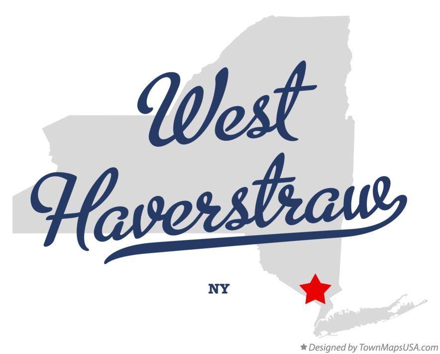 Map of West Haverstraw New York NY