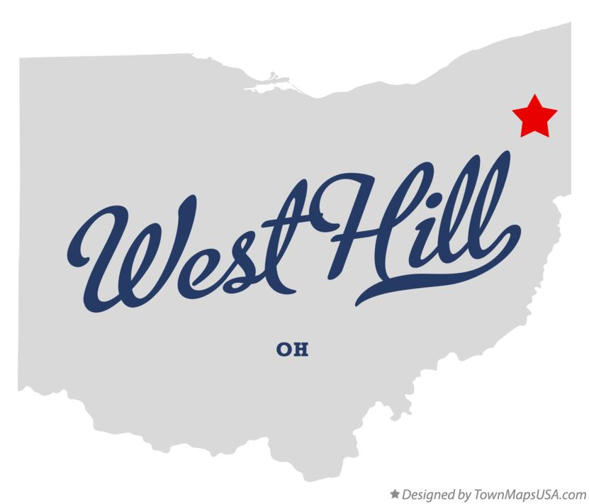 Map of West Hill Ohio OH