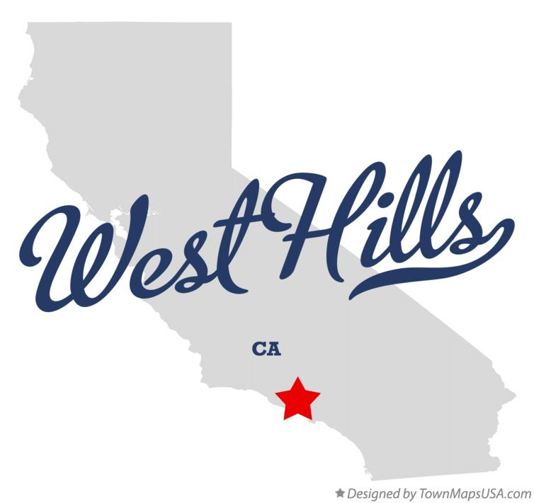 Map of West Hills California CA