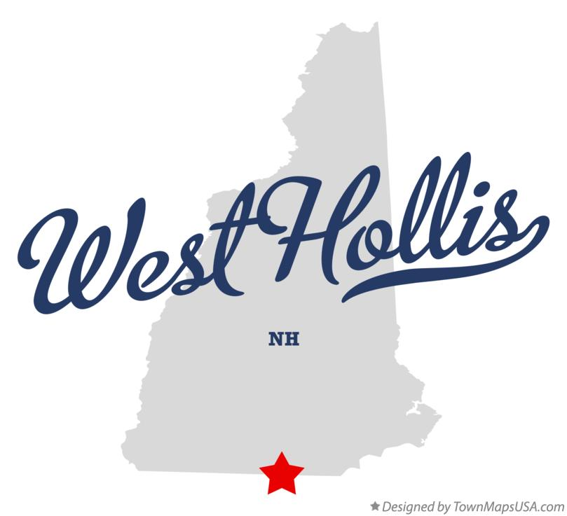 Map of West Hollis New Hampshire NH