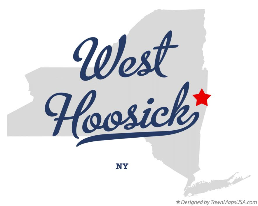 Map of West Hoosick New York NY