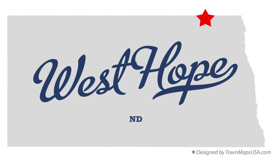 Map of West Hope North Dakota ND