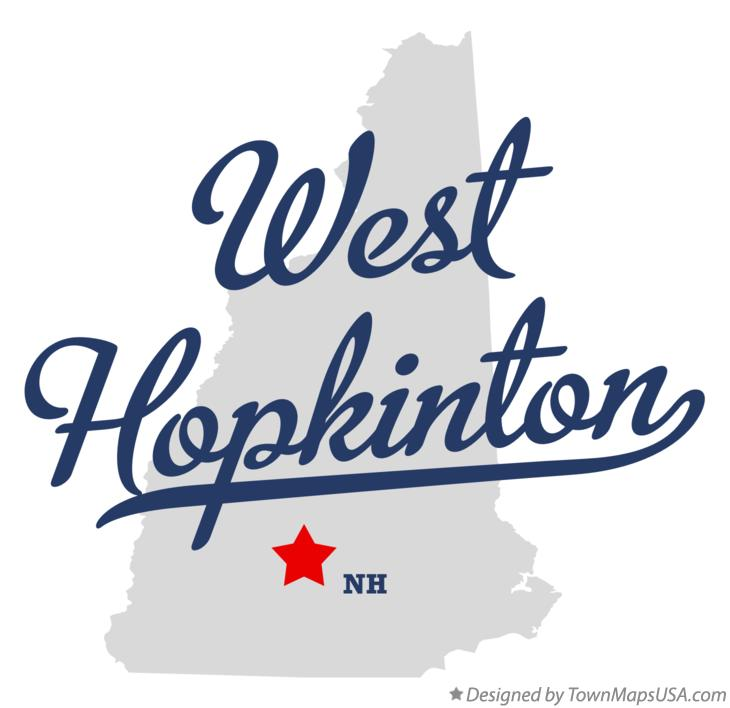 Map of West Hopkinton New Hampshire NH