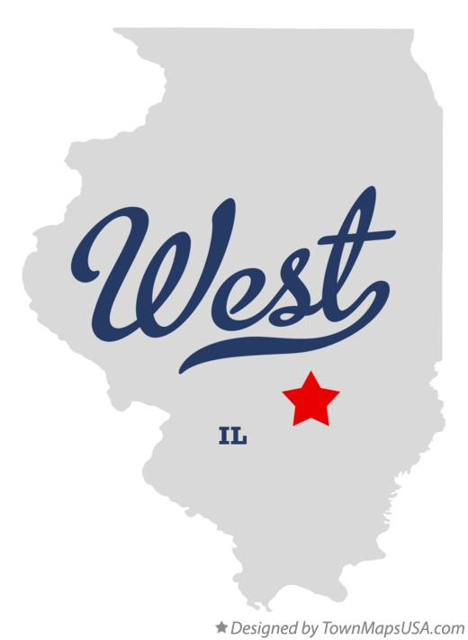 Map of West Illinois IL