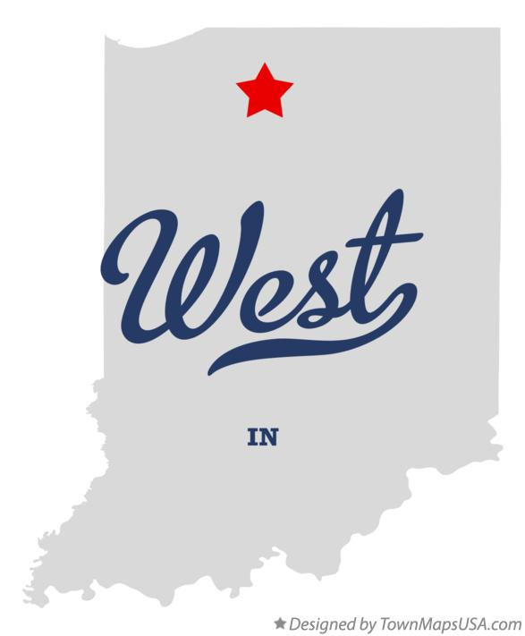 Map of West Indiana IN