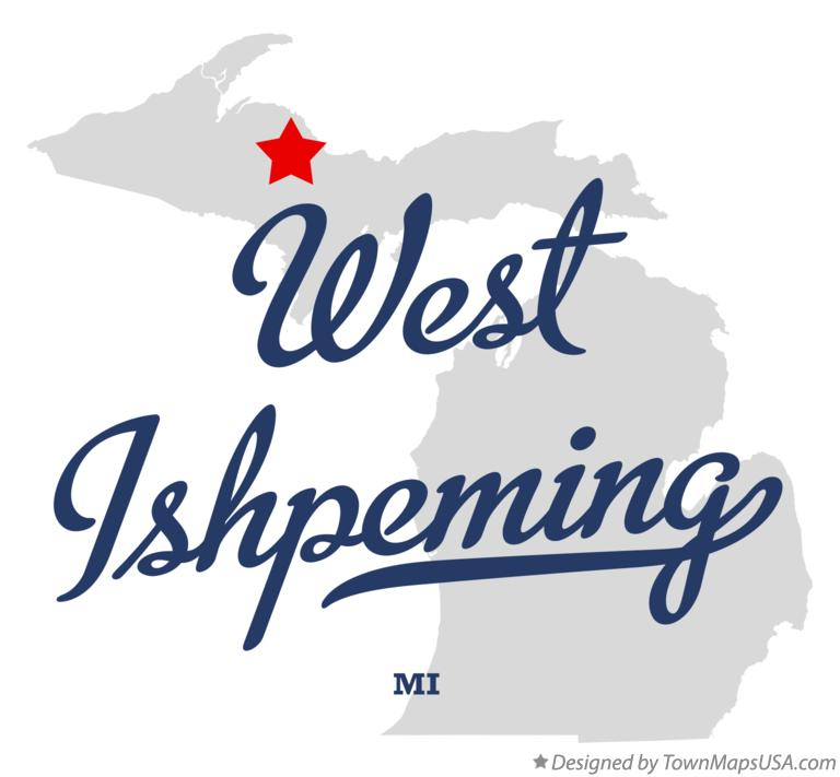 Map of West Ishpeming Michigan MI