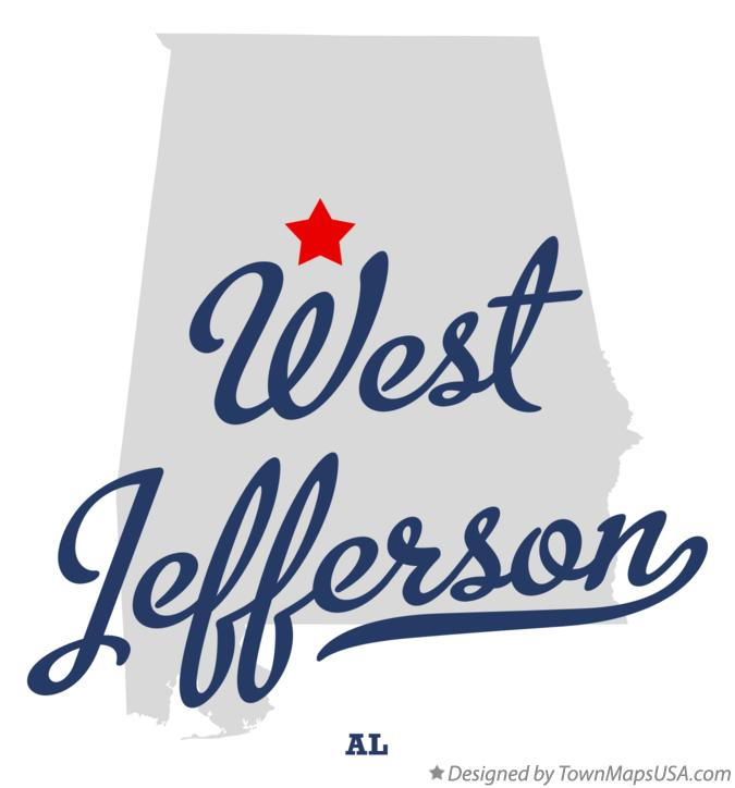 Map of West Jefferson Alabama AL