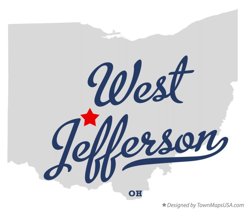 Map of West Jefferson Ohio OH