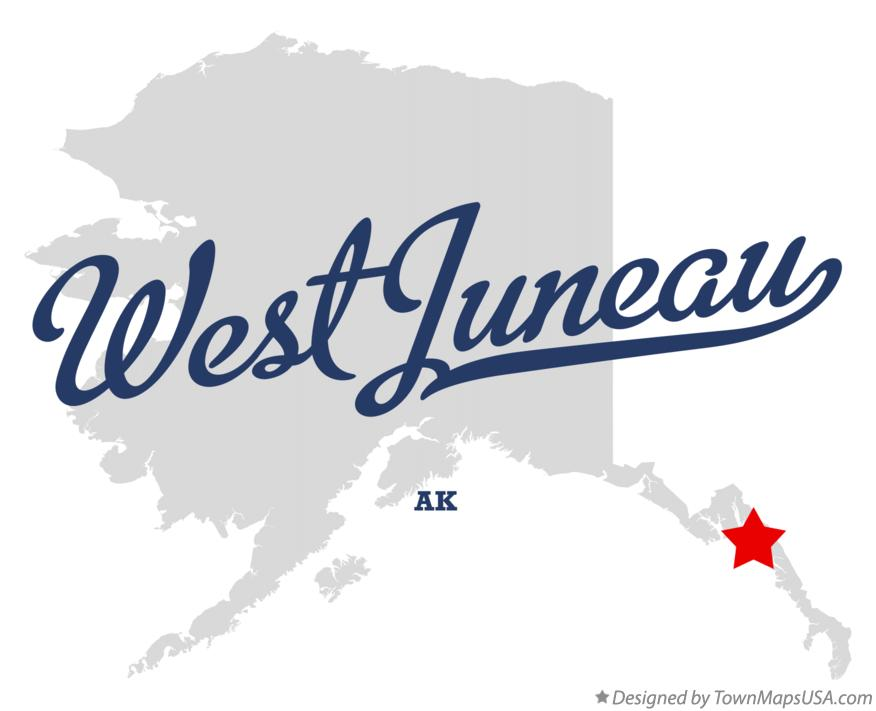 Map of West Juneau Alaska AK