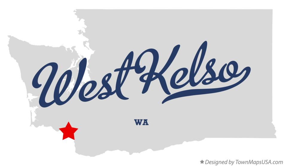 Map of West Kelso Washington WA