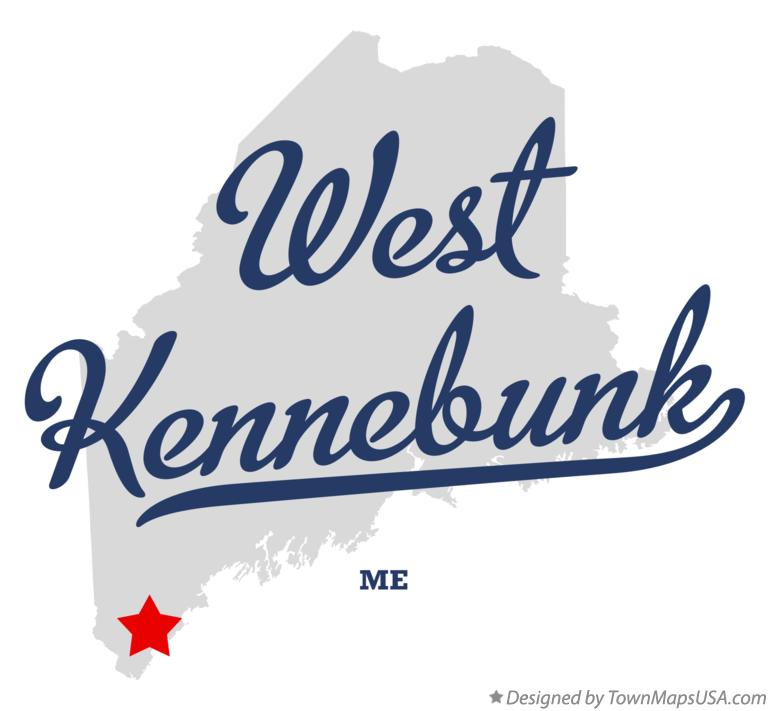 Map of West Kennebunk Maine ME