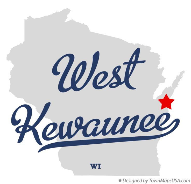 Map of West Kewaunee Wisconsin WI