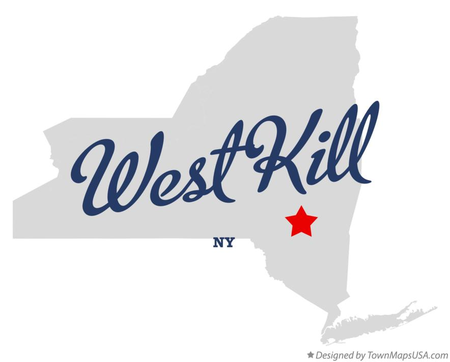 Map of West Kill New York NY
