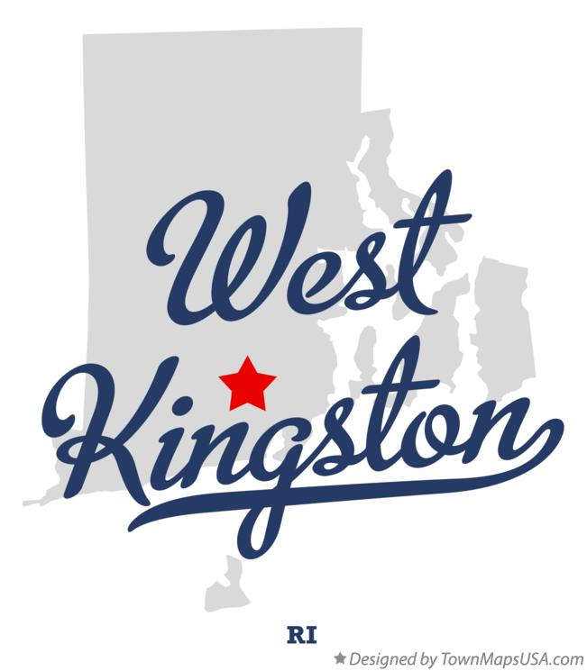 Map of West Kingston Rhode Island RI