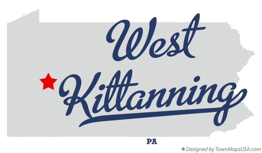 Map of West Kittanning Pennsylvania PA