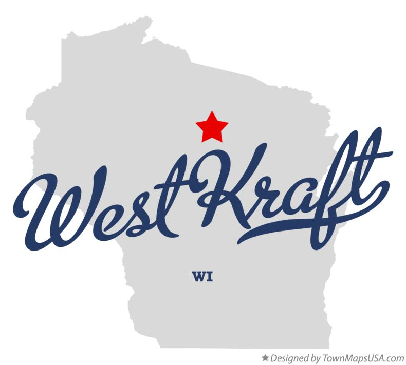 Map of West Kraft Wisconsin WI
