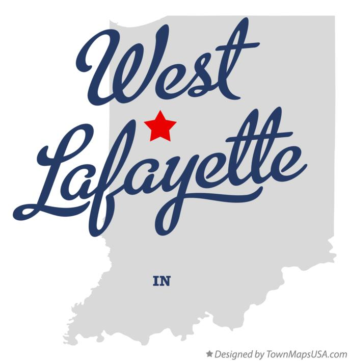 Map of West Lafayette Indiana IN