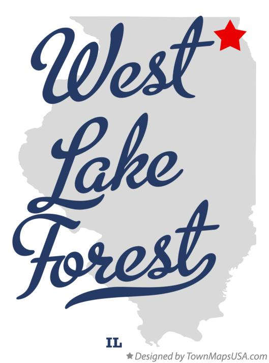 Map of West Lake Forest Illinois IL