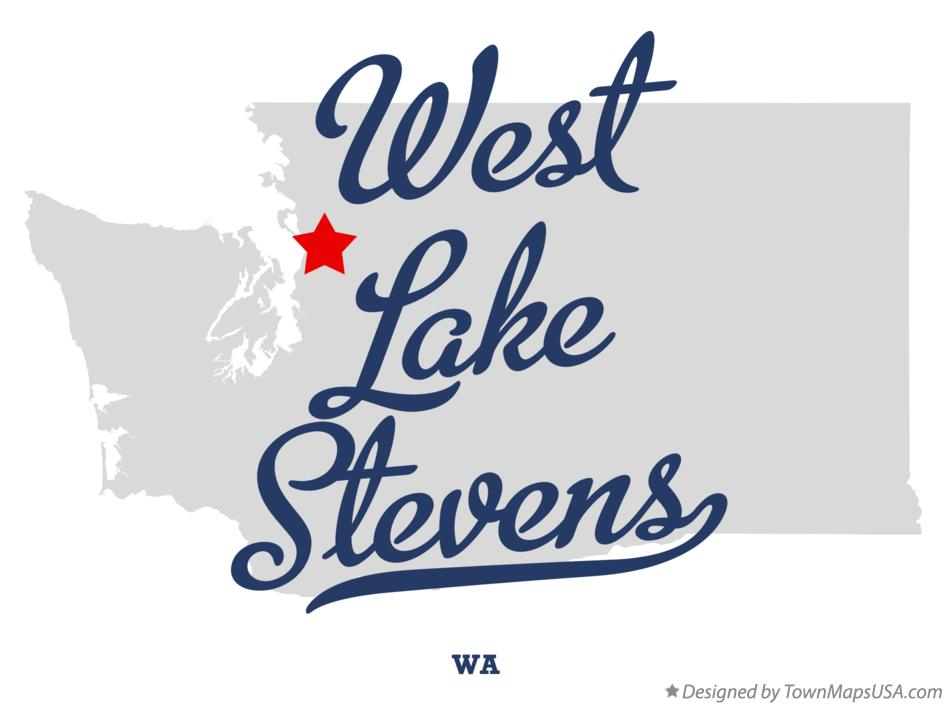 Map of West Lake Stevens Washington WA