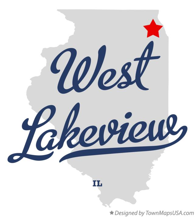 Map of West Lakeview Illinois IL