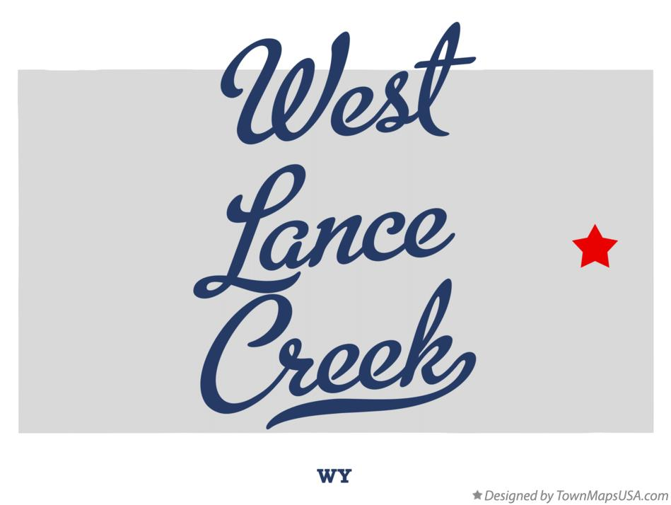 Map of West Lance Creek Wyoming WY