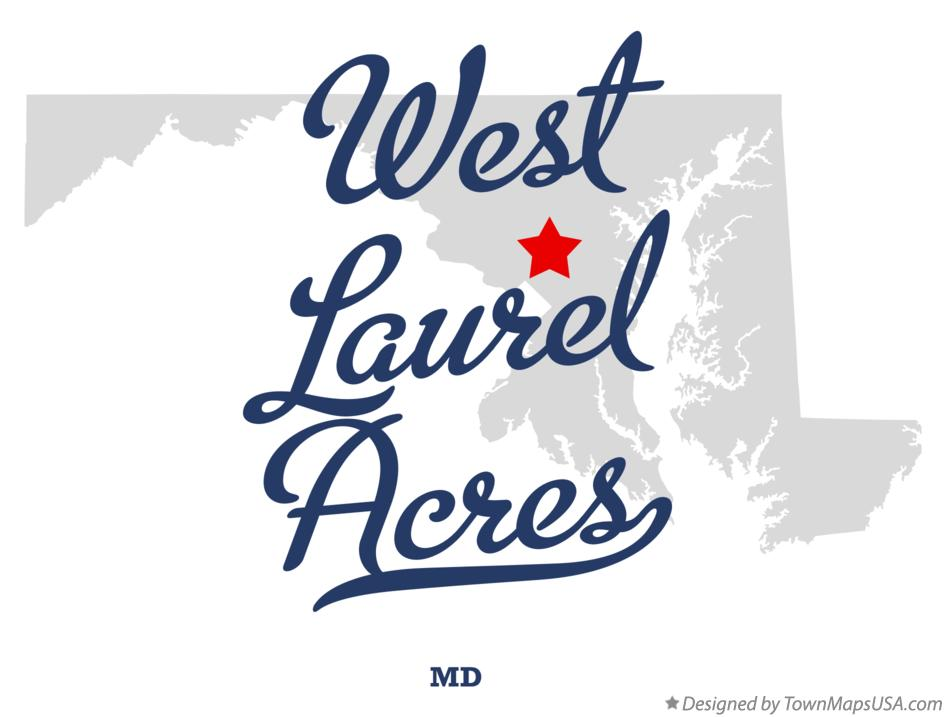 Map of West Laurel Acres Maryland MD