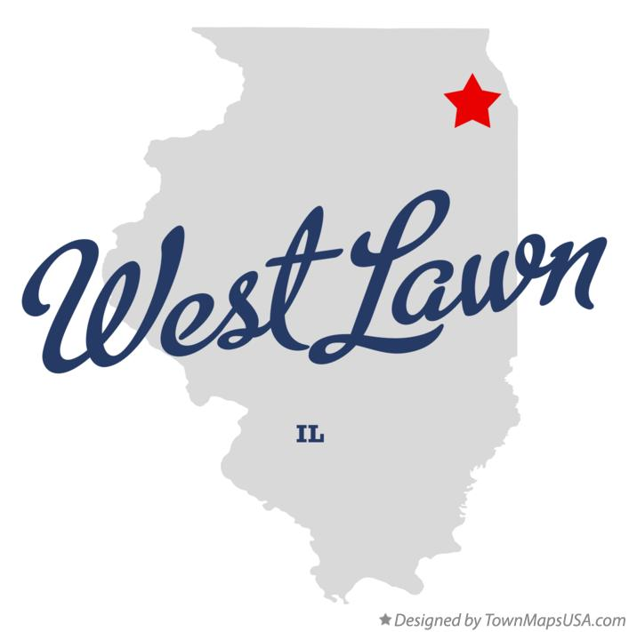 Map of West Lawn Illinois IL