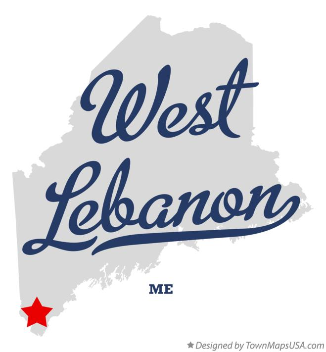 Map of West Lebanon Maine ME