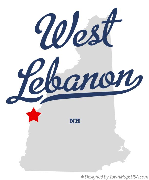 Map of West Lebanon New Hampshire NH