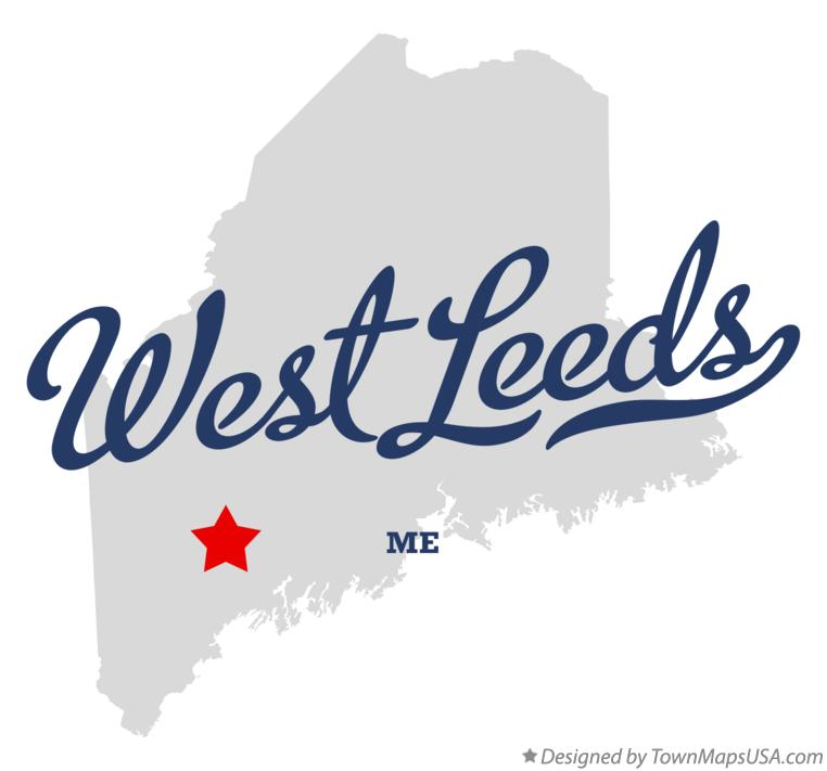 Map of West Leeds Maine ME