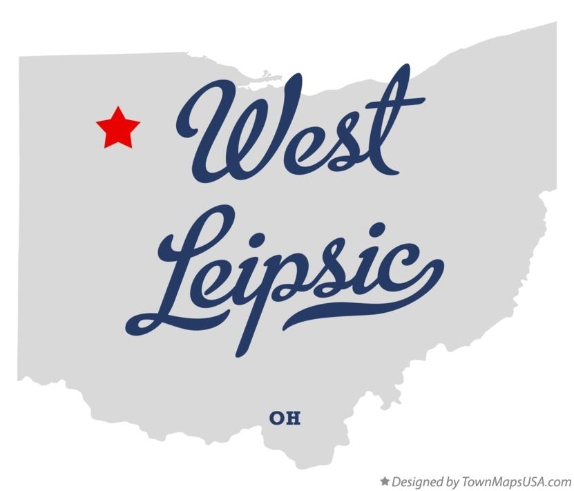 Map of West Leipsic Ohio OH