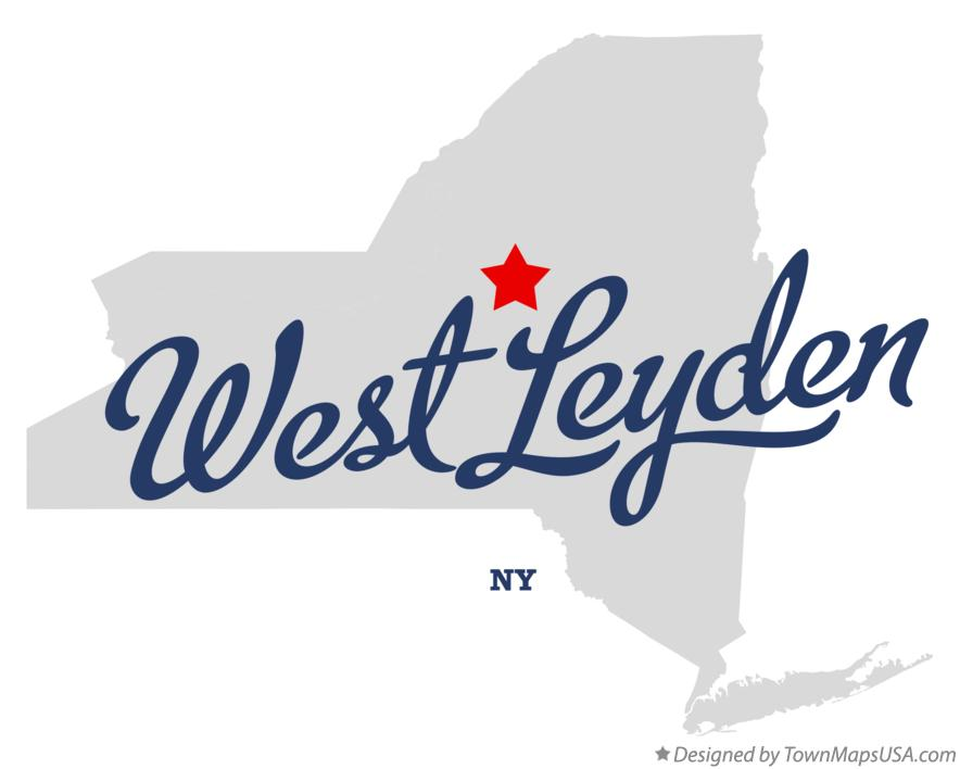 Map of West Leyden New York NY