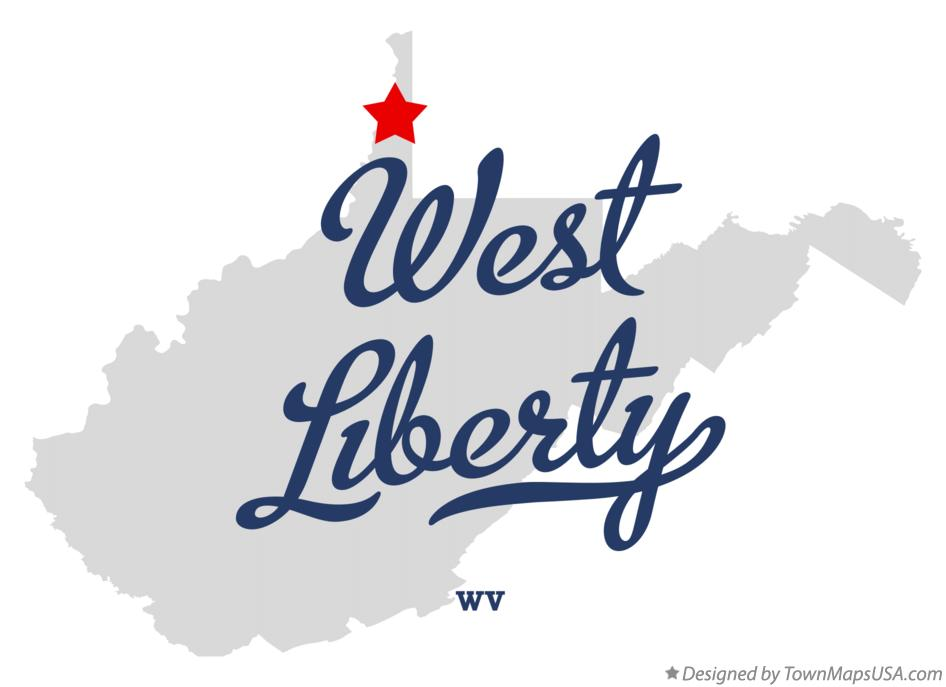 Map of West Liberty West Virginia WV