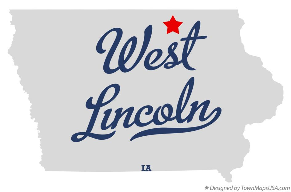 Map of West Lincoln Iowa IA