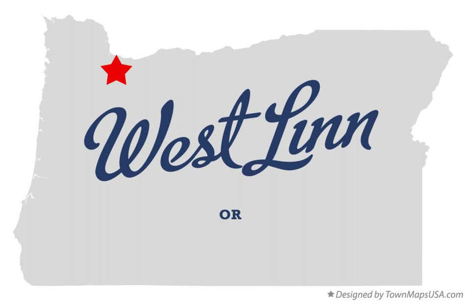 Map of West Linn Oregon OR