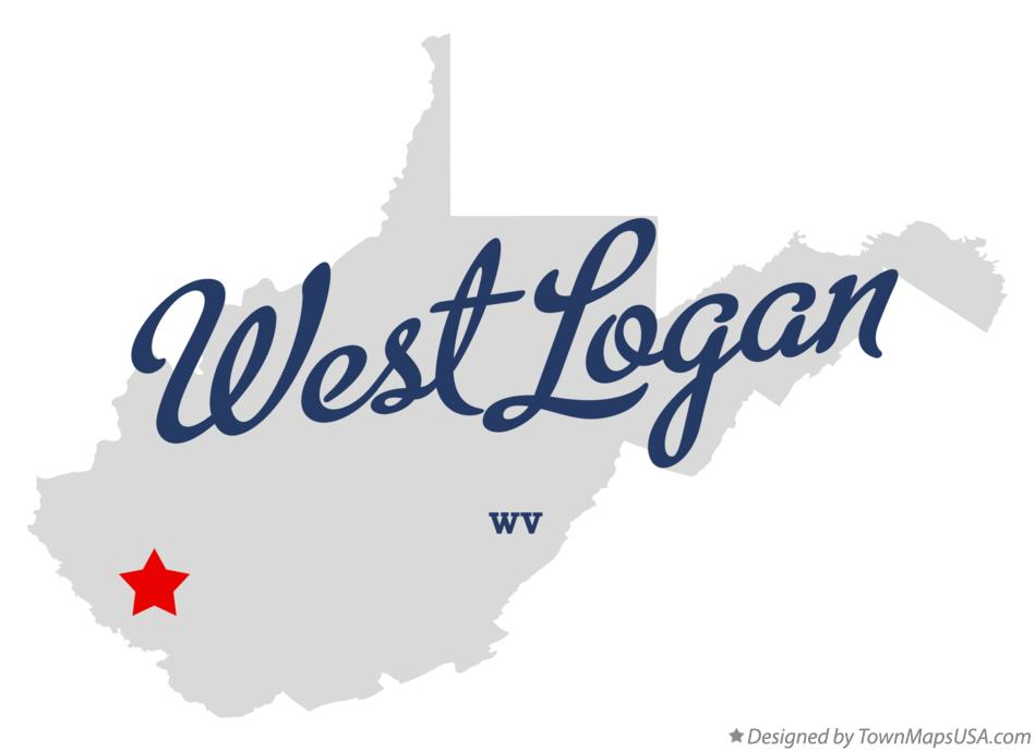 Map of West Logan West Virginia WV