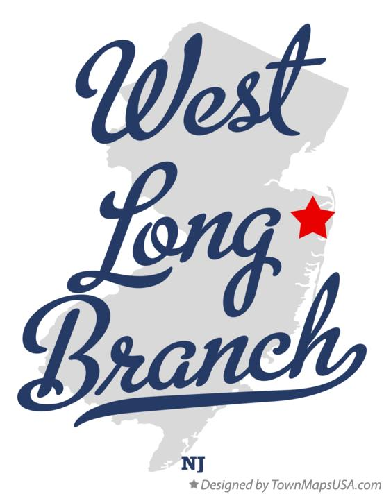Map of West Long Branch New Jersey NJ