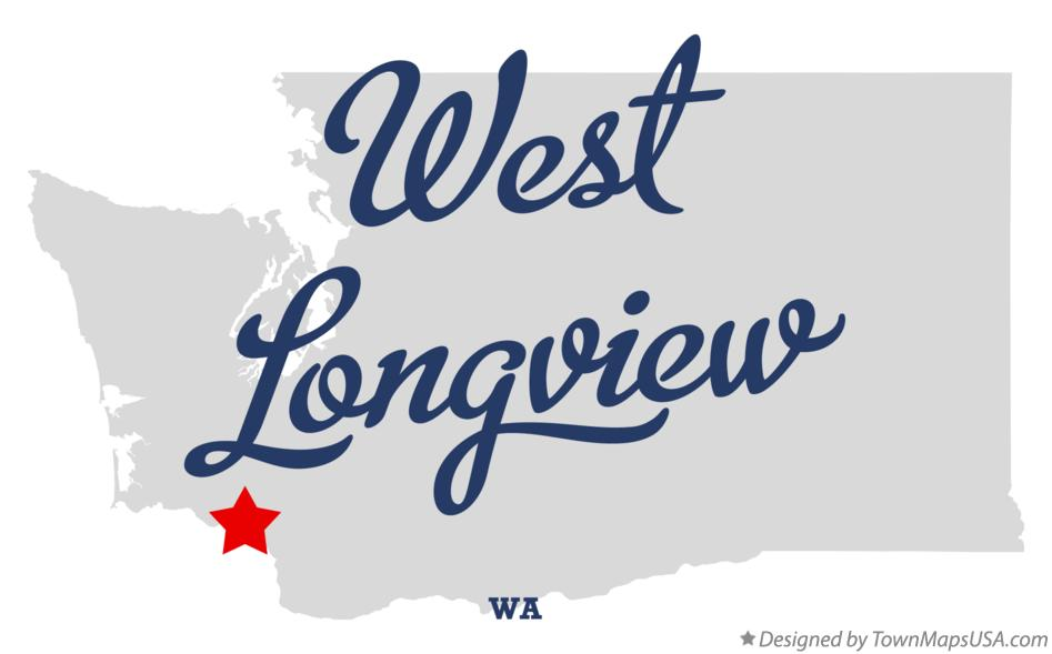 Map of West Longview Washington WA