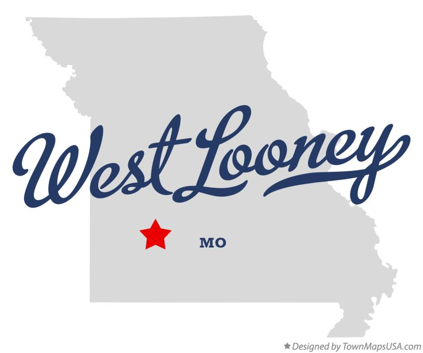Map of West Looney Missouri MO