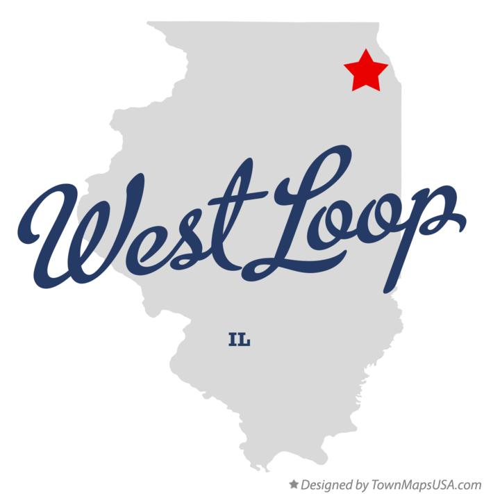 Map of West Loop Illinois IL