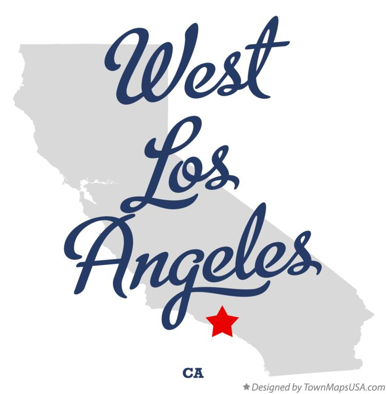 Map of West Los Angeles California CA