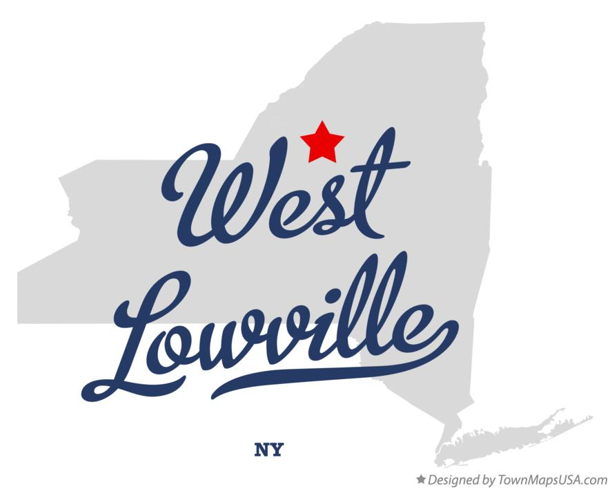 Map of West Lowville New York NY