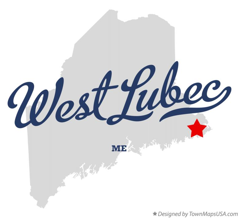 Map of West Lubec Maine ME